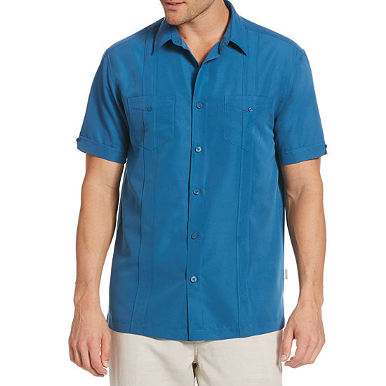 Cubavera Mens Short Sleeve Button-Down Shirt