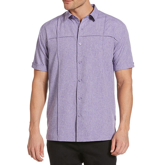 Cubavera Mens Short Sleeve Button-Down Shirt