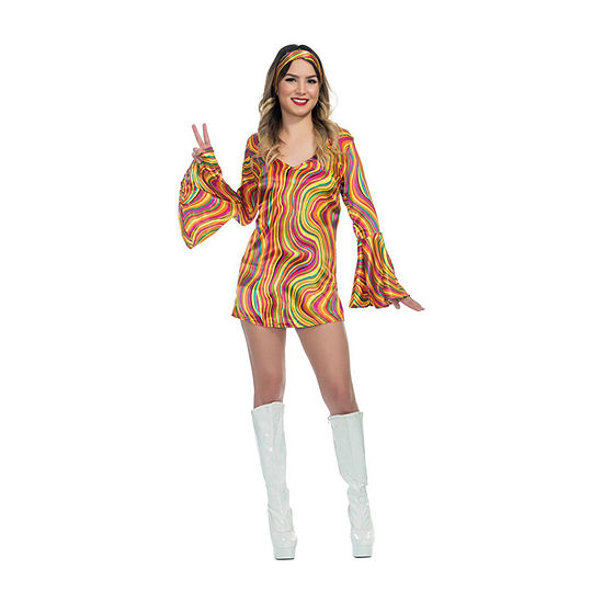 Girls Rainbow Lights Disco Diva Costume Girls Costume