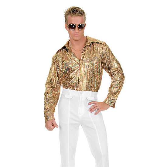 Mens Glitter Disco Shirt Costume Costume