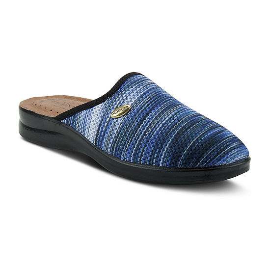 Flexus Womens Scuff Closed Toe Slip-On Shoe