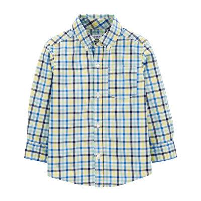 Carter's Toddler Boys Long Sleeve Button-Front Shirt