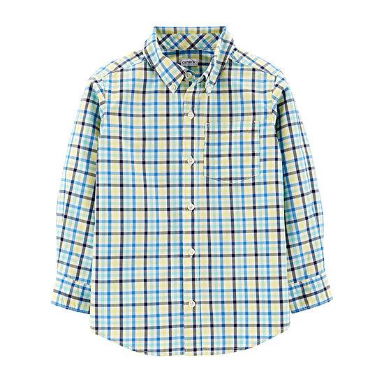 Carter's Little Kid / Big Kid Boys Long Sleeve Button-Front Shirt