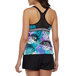 Zeroxposur Leaf Tankini Swimsuit Top