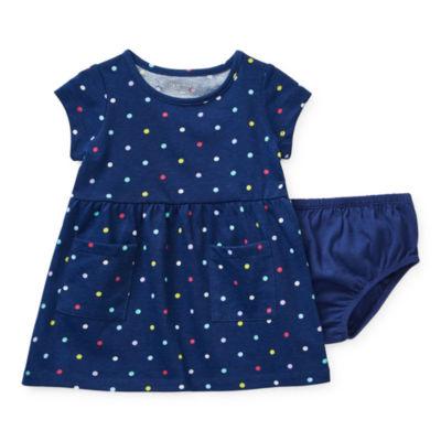 Okie Dokie Pocket Girls Short Sleeve T-Shirt Dresses - Baby