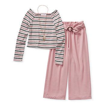 Knit Works Pant Sets Little & Big Girls 2-pc. Pant Set, Color: Blush -  JCPenney