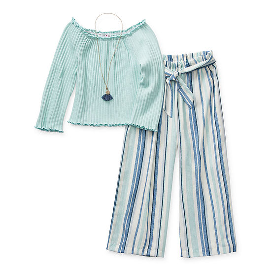 Knit Works Little & Big Girls 2-pc. Pant Set