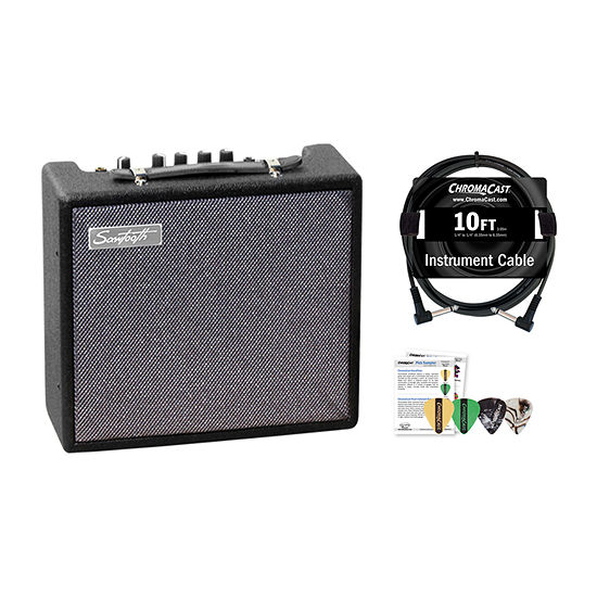 Sawtooth 10-Watt Electric Guitar Amplifier with Accessories