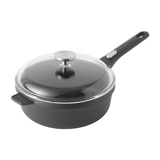 """BergHOFF Gem  10"""" Covered Sauté Pan Aluminum Non-Stick Saute Pan"""