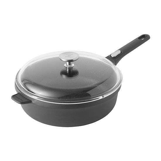 """BergHOFF Gem  11"""" Covered Sauté Pan Aluminum Non-Stick Saute Pan"""