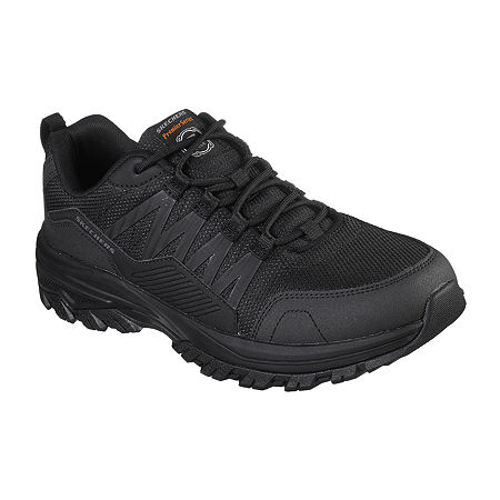 Skechers Mens Work Shoes, 11 Medium, Black