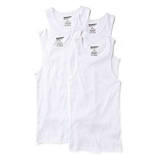 Arizona 4-pk. Sleeveless Shirts - Boys 4-20