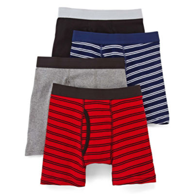 Arizona 4-pk. Striped Boxer Briefs – Boys Regular & Husky