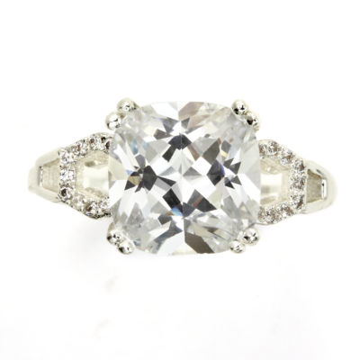Sparkle Allure White Halo Engagement Ring