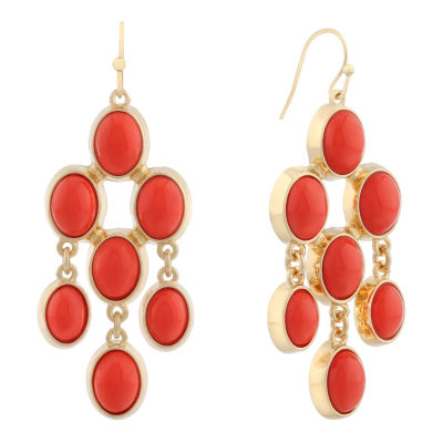 Liz Claiborne Orange Chandelier Earrings