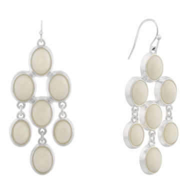 Liz Claiborne White Chandelier Earrings