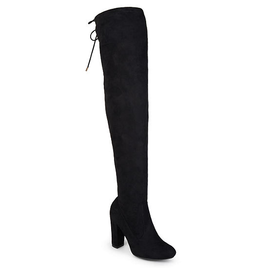 Journee Collection Womens Over the Knee Boots Zip