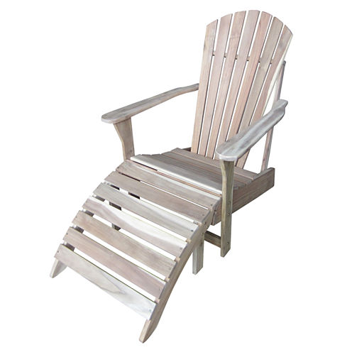 International Concepts Adirondack Chair With Footrest 2-pc. Patio Lounge Set