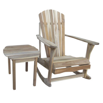 International Concepts Adirondack Rocker And Table 2-pack Patio Lounge Set