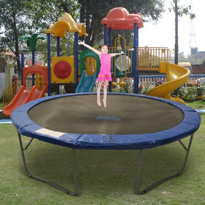 Upper Bounce 12 ft Round Trampoline With Blue Safety Pad