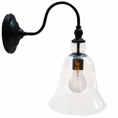Warehouse Of Tiffany Mildred 1-light Clear Glass Edison Wall Lamp with Bulb