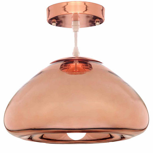 Warehouse Of Tiffany Zechariah 1-light Glass Edison Pendant with Bulb
