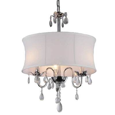 Warehouse Of Tiffany Paris 3 Lights Crystal Chandelier