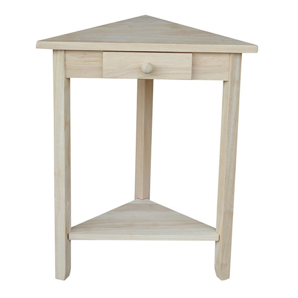 Corner 1-Drawer Console Table