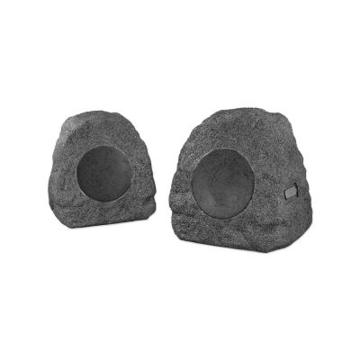 Innovative Technology ITSBO-358P5 Rechargeable Bluetooth Outdoor Wireless Rock Speakers pair