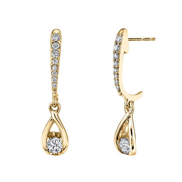 Fine Jewelry 3/4 CT. T.W. Genuine White Diamond 14K Gold Drop Earrings fz1d0sGguP