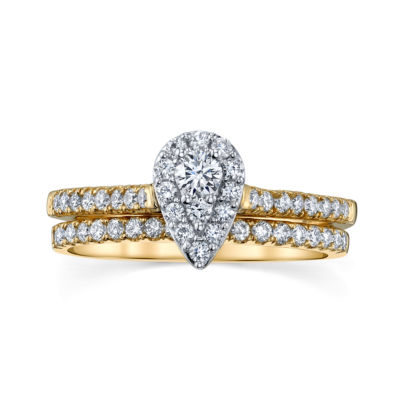 Sirena Womens 5/8 CT. T.W. Genuine White Diamond 14K Gold Engagement Ring