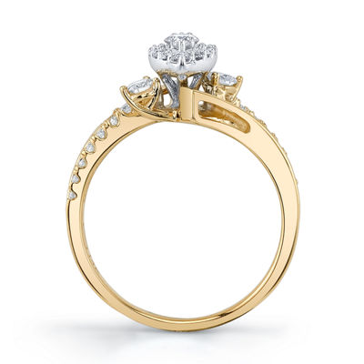 Sirena Womens 5/8 CT. T.W. Genuine White Diamond 14K Gold Engagement Ring