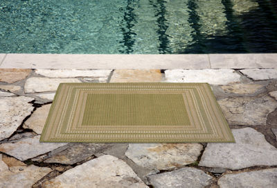Liora Manne Terrace Etched Border Indoor/Outdoor Rug
