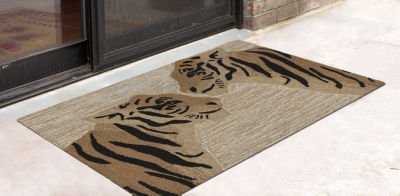 Liora Manne Frontporch Tigers Indoor/Outdoor Rug