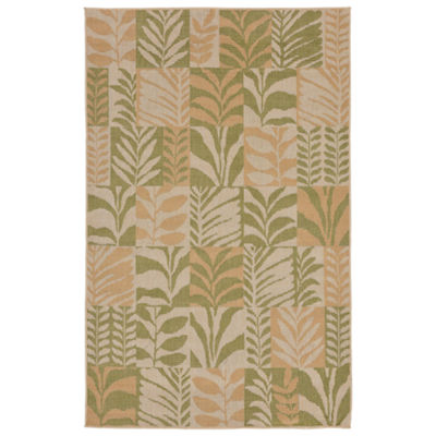 Liora Manne Terrace Box Leaves Indoor/Outdoor Rug