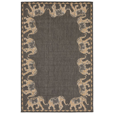 Liora Manne Terrace Marching Elephants Indoor/Outdoor Rug