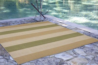 Liora Manne Terrace Multi Stripe Indoor/Outdoor Rug