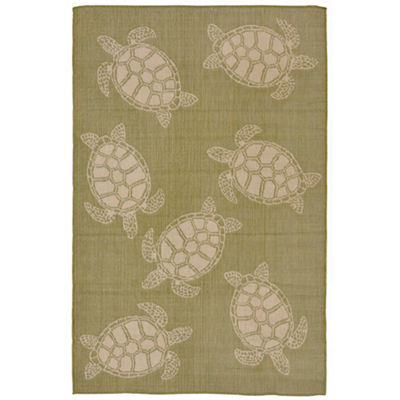 Liora Manne Terrace Seaturtle Indoor/Outdoor Rug