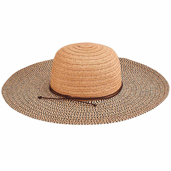 San Diego Hat Company Womens Paperbraid Solid Crown Mix Sun Brim