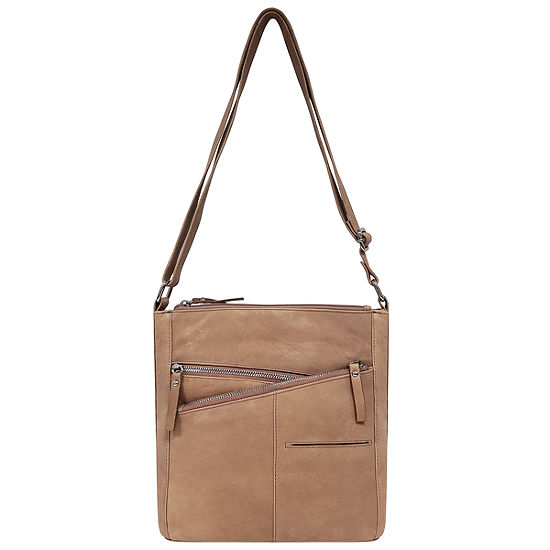 east 5th Cross Zip Leather Bucket Bag
