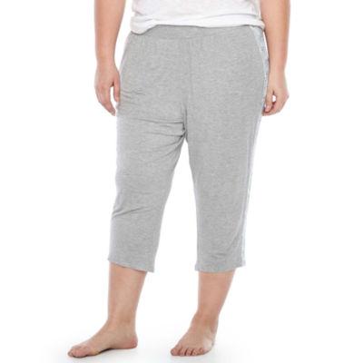 Ambrielle Jersey Floral Pajama Pants-Plus