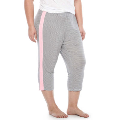 Ambrielle Jersey Capri Pajama Pants-Plus
