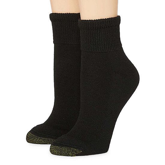 Gold Toe Wellness 2 Pair Quarter Socks - Womens