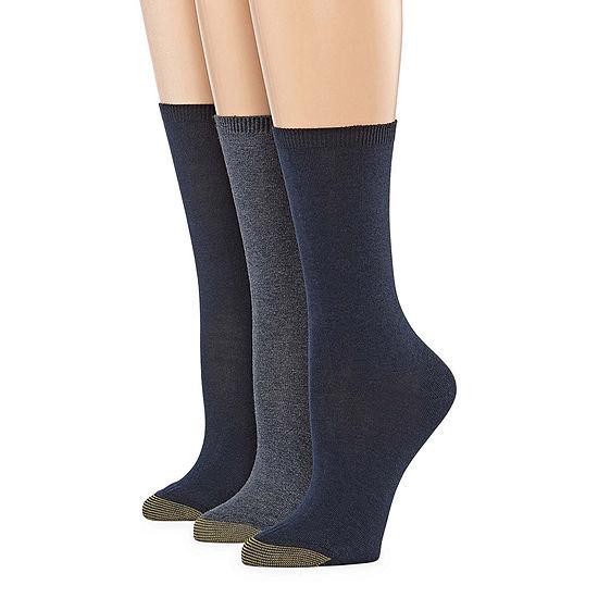 Gold Toe Wellness 3 Pair Crew Socks Womens