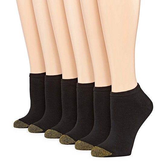 Gold Toe 6 Pair No Show Socks - Womens