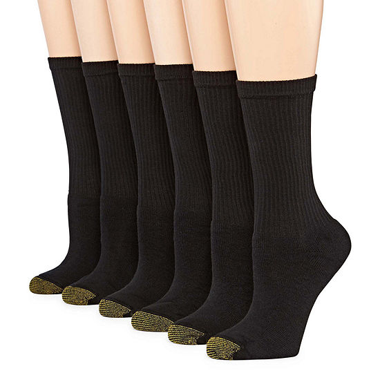 Gold Toe 6 Pack Crew Socks - Women's