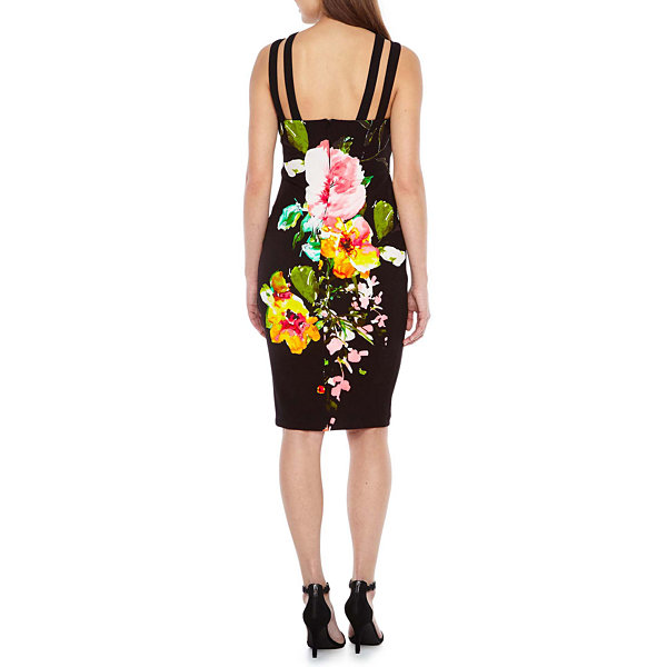 Premier Amour Sleeveless Floral Bodycon Dress