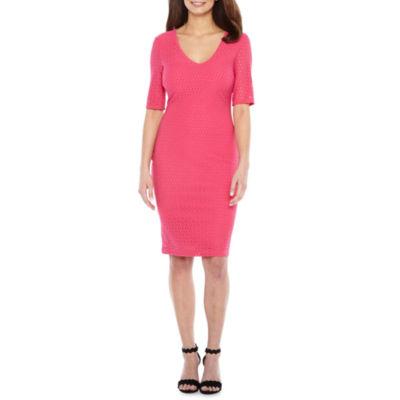 Premier Amour Elbow Sleeve Bodycon Dress