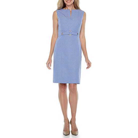 Chelsea Rose Sleeveless Jacquard Sheath Dress