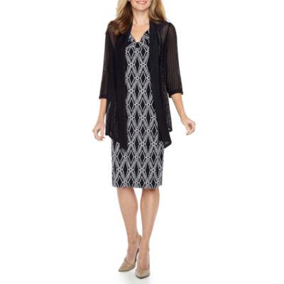 Connected Apparel Sleeveless Jacket Dress